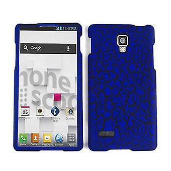 Rajoittamaton Cellular Snap-on tapa uksessa LG Optimus L9 P769-sininen muna crack, nahka viimeistely