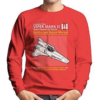 Battlestar Galactica Viper Service And Repair Manual Men's Sweatshirt