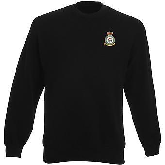 Syerston RAF Station Stickerei Logo - offizielle königliche Luftwaffe Schwergewichts-Sweatshirt