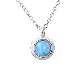 Round - 925 Sterling Silver Jewelled Necklaces - W29634X