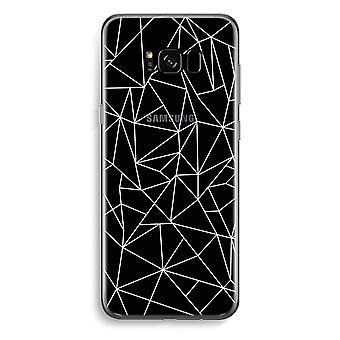 Samsung Galaxy S8 transparentes Gehäuse (Soft) - weiße geometrischen Linien