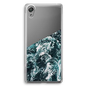 Sony Xperia XA1 przezroczyste etui (Soft) - Ocean Fala
