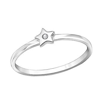 Star - 925 Sterling Silver Jewelled Rings - W30643X