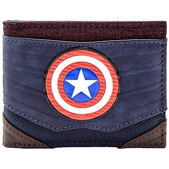 Marvel Captain America getextureerde pak ID & kaart Bi-Fold portemonnee