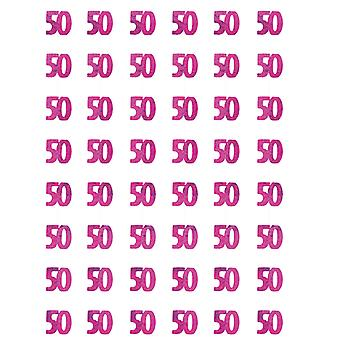 Geburtstag Glitzer Pink - 50. Geburtstag Prisma hängende Dekoration