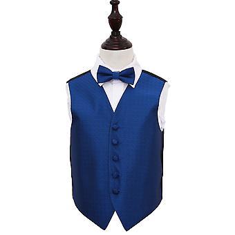 Royal Blue Griekse belangrijke bruiloft gilet & strikje Set voor jongens