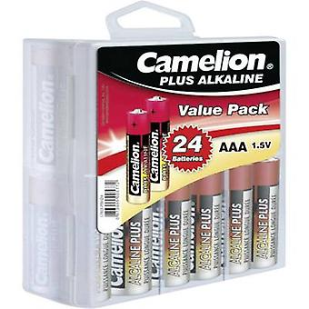 AAA battery Alkali-manganese Camelion Plus LR03 1250 mAh 1.5 V 24 pc(s)