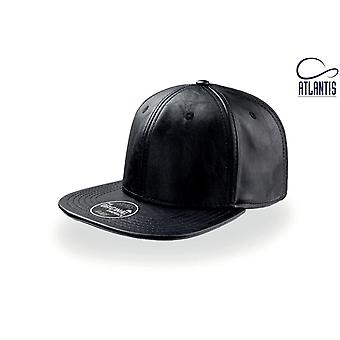 Atlantis Snap Eco Flat Visor PU Leather 6 Panel Cap