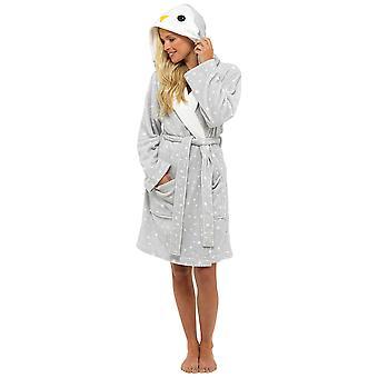 Foxbury Womens Novelty Animal Themed Fleece Dressing Gown