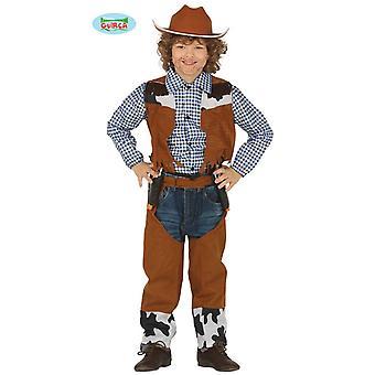 Cowboy kostume 3-piece jakke bukser t-shirt børn cowboy kostume børn kostume