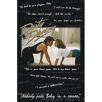 Dirty Dancing poster Patrick Swayze & Jennifer Grey, met citaten ais de film!