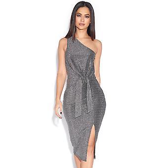 فستان الكتف واحد معدني