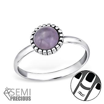 Round - 925 Sterling Silver Midi Rings - W30309x