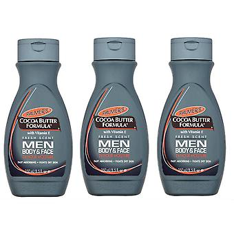 Palmer's cacaoboter formule mannen lichaam & gezicht Lotion 250ml (3-Pack)