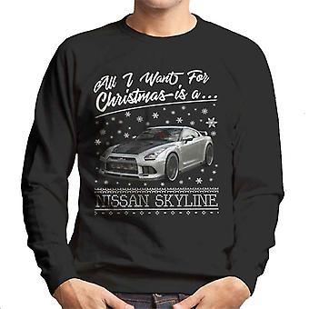 All I Want For Christmas est Sweatshirt une Nissan Skyline homme