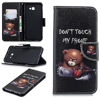 Samsung Galaxy J4 + billetera Case-Bear Don ' t toque mi teléfono
