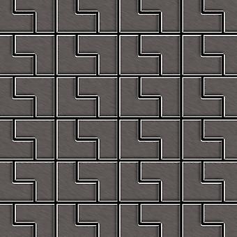 Metal mosaic Titanium ALLOY Kink-Ti-SB