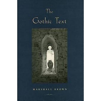 De gotische tekst door Marshall Brown - 9780804739139 boek