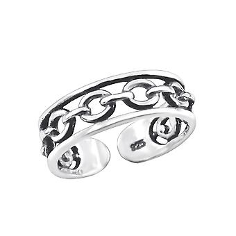 Chain - 925 Sterling Silver Toe Rings - W3828x