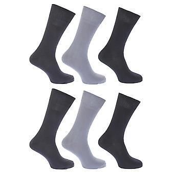 FLOSO Мужская/Женская простой 100% хлопок носки (Pack из 6)