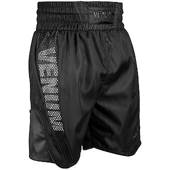 Venum Mens Elite Boxing Trunks Polyester Drawstring Shorts - All Black