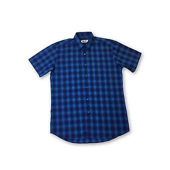 Ingram shirt in blue and navy tartan pattern