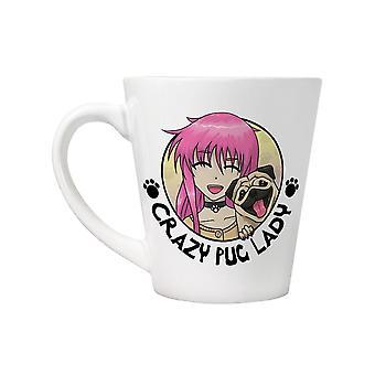 Grindstore Crazy Pug Lady latte Mug