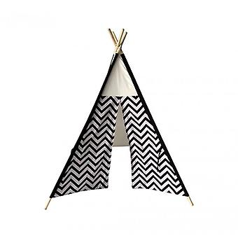 Furniture Rebecca Indian Tent From Black Play White Cotton Wood 145x120x120