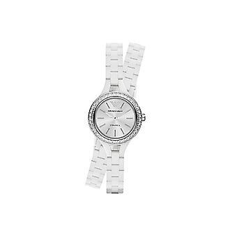 Emporio Armani Ar1482 clássico branco Senhoras relógio pulseira cerâmica