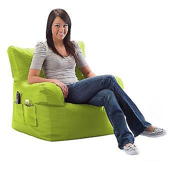 Klaar steady bed waterbestendig grote zitzak ontspannenstoel met bijpassende voetenbank, Lime Green