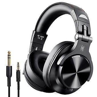 OneAudio a7 Fushion over ear chiuso-back cuffie da studio, auricolari in pelle proteica, versione cablata/wireless-nero