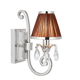 Lámpara de pared solo de Oksana níquel con Chocolate cortina - interiores 63534 1900