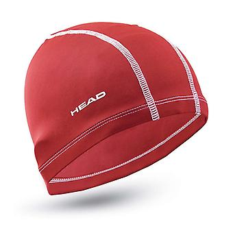 HEAD Nylon/Spandex Adult Swimming Cap-Red