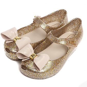 Melissa Shoes Mini Ultragirl Bow Glitter Shoes, Gold