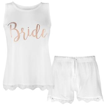 Rock and Rags Womens Ladies Bridal Short Set