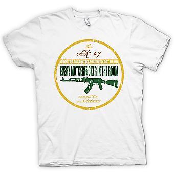 Mens T-shirt-l'AK47 - quand tu dois tuer - Jackie Brown
