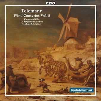 G.P. Telemann - Telemann: Vind Concertos, Vol. 8 [CD] USA import