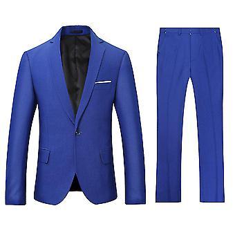 Allthemen Men ' s costume de înaltă calitate 2-piese Classic costume un buton casual & formale Slim Fit costume Blazer & pantaloni