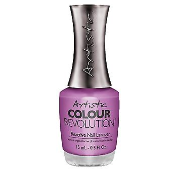 Artistic Colour Revolution Professional Reactive Hybrid Nail Lacquers - Petal To The Metal 15ml (2303164)