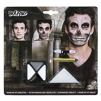 Skeleton Make Up Kit Halloween Face Paints