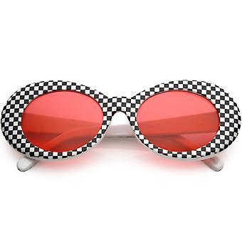 الإطار سميكة كبيرة الرجعية نظارة شمسية البيضاوي متقلب الملونة عدسة واسعة من الأسلحة 53 ملم