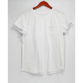 C. Wonder Top Essentials Slub Knit Scoop Neck T-Shirt White A289715