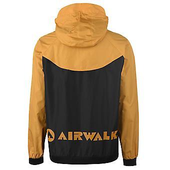 Airwalk Herren Jacke Regen Mantel Top Kapuze Zip voller Mesh Drawstring