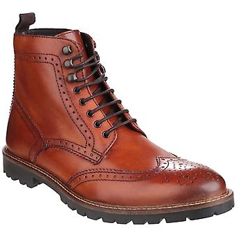 Basis London Mens Troop Lace up Boot Tan