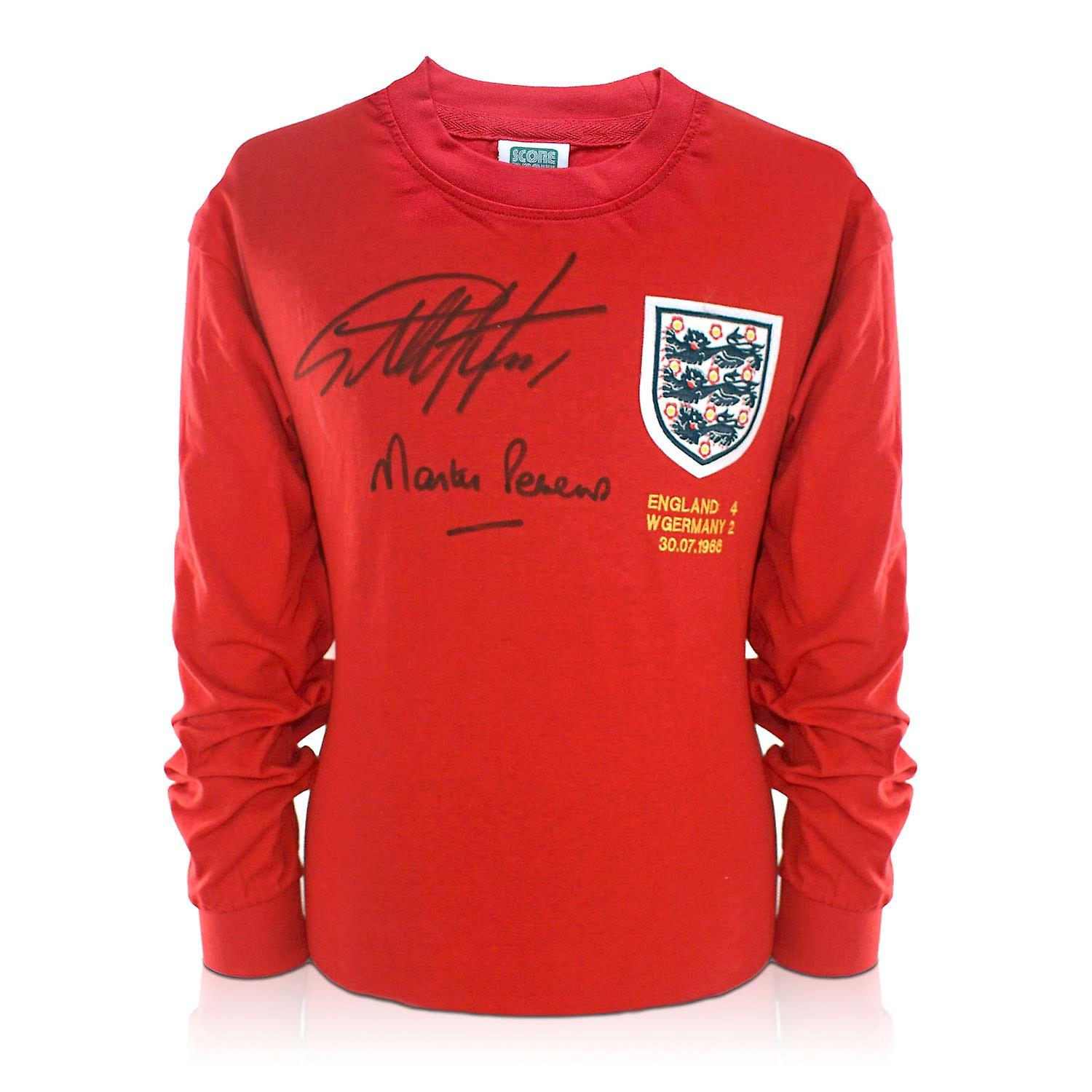 Geoff Hurst And Martin Peters Signed England 1966 Football Shirt