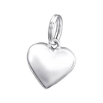 Heart - 925 Sterling Silver Charms With Split Ring - W29162x