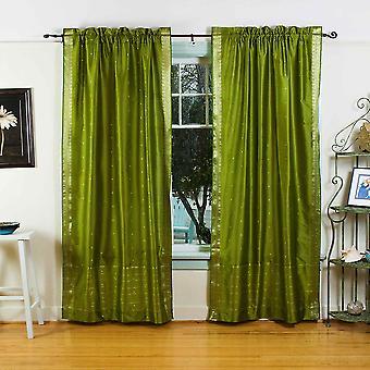 Tenda voile Sari a bastone verde oliva / drappo / pannello - pezzo