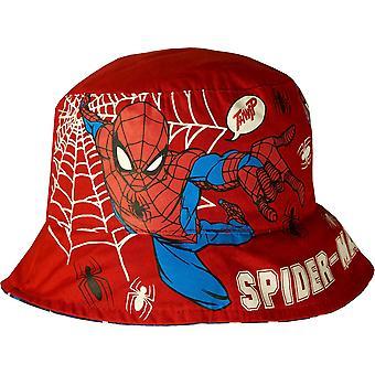 Meninos ER4136 Marvel homem-aranha reversível verão chapéu 2-8 anos