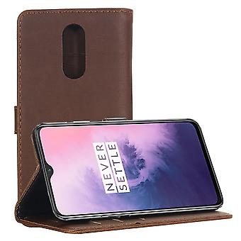 OnePlus 7 Retro Portafoglio Caso-Caffè