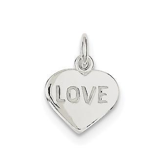 925 sterling sølv solid polert kjærlighet hjerte sjarm anheng halskjede smykker gaver til kvinner